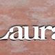 articolo-43-laura-scritta-in-acciaio-inox