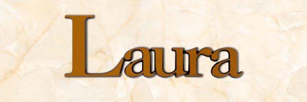 articolo-43-laura-scritta-in-bronzo